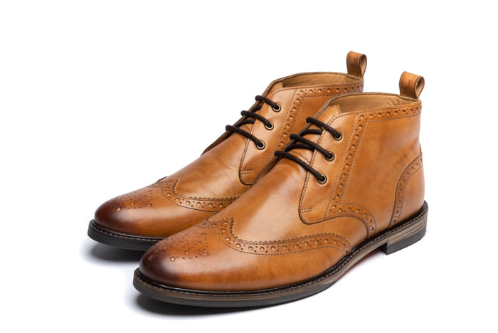 RIBCHESTER // TAN-MEN'S SHOE | LANX Proper Men's Shoes