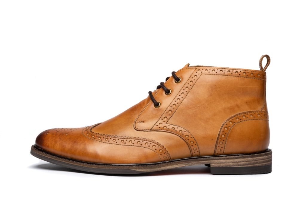 RIBCHESTER // TAN (MEN'S)-MEN'S SHOE | LANX Proper Men's Shoes
