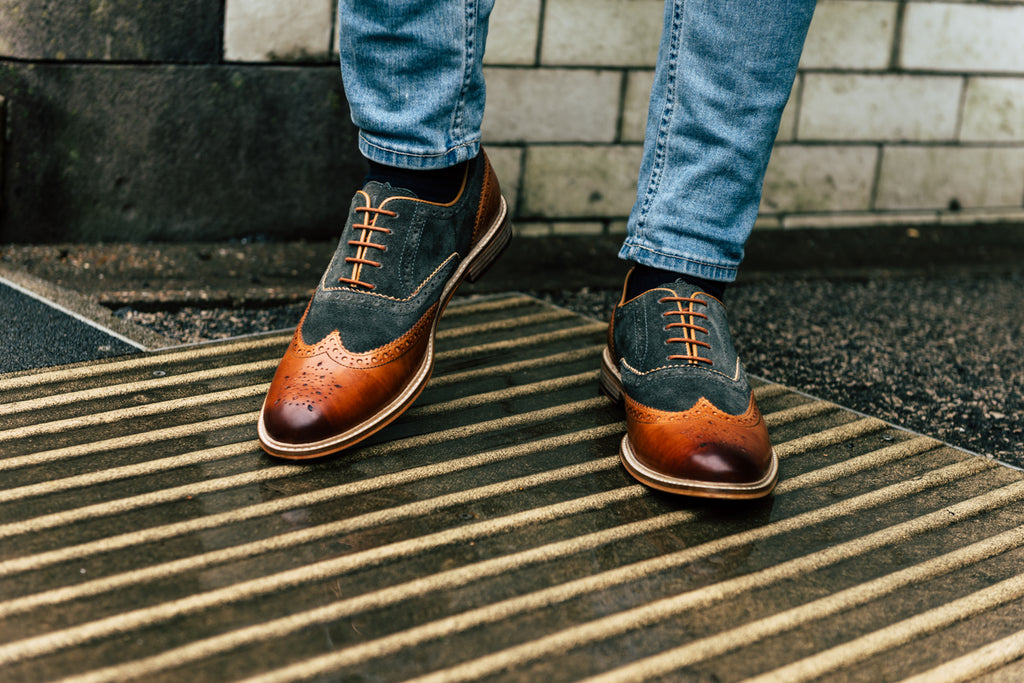 WATSON // TAN & GREY-MEN'S SHOE | LANX Proper Men's Shoes
