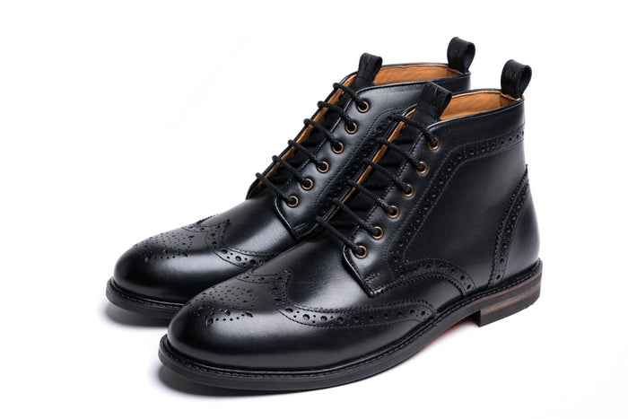 BAYLEY // BLACK-MEN'S SHOE | LANX Proper Men's Shoes