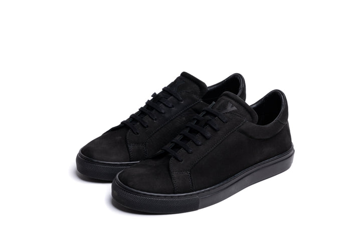 ANCOATS / BLACK NUBUCK-Womens Sneakers | LANX Proper Men's Shoes