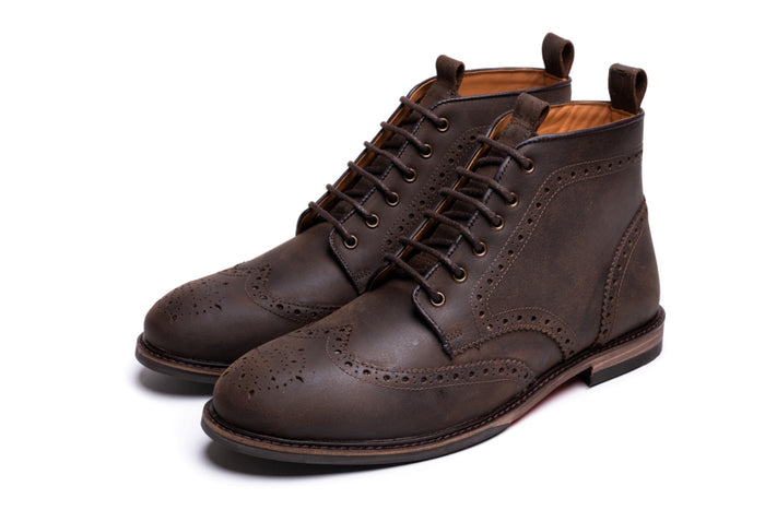 BAYLEY / DISTRESSED BROWN-Womens Footwear | LANX Proper Men's Shoes