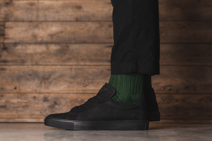ANCOATS // BLACK NUBUCK (MEN'S)-MEN'S SHOE | LANX Proper Men's Shoes