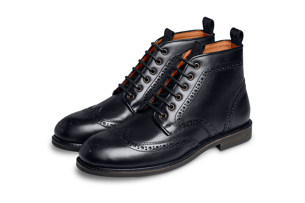 BLACK BOOT LACE-LACES | LANX Proper Men's Shoes