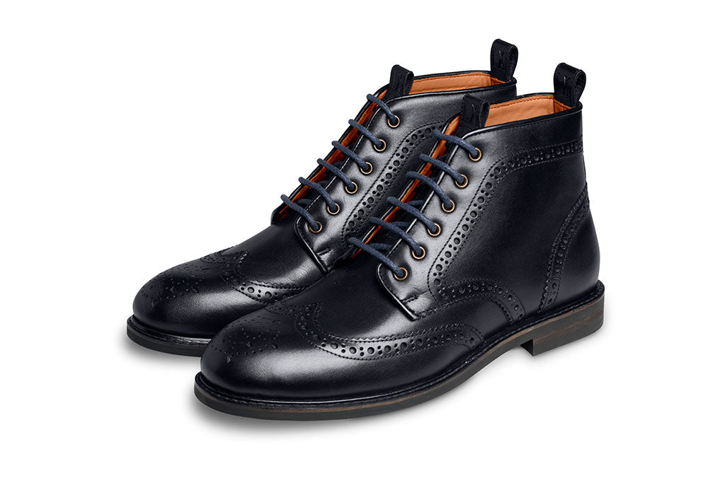 NAVY BOOT LACE-LACES | LANX Proper Men's Shoes