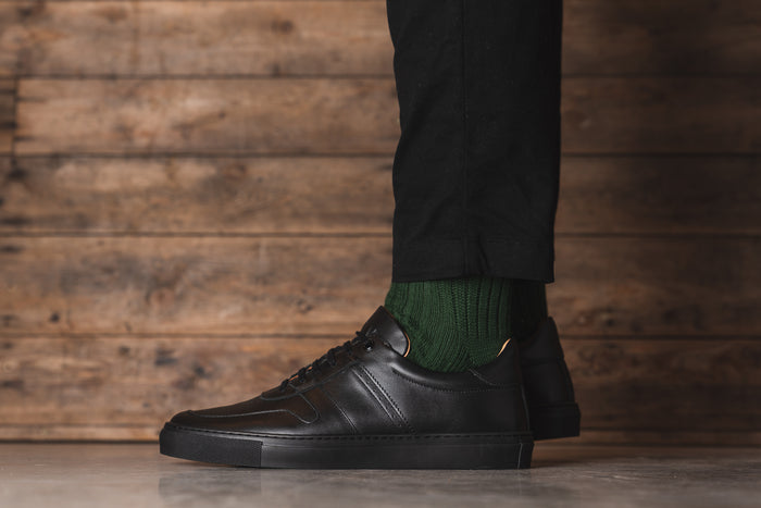 SANKEY // BLACK-MEN'S SNEAKER | LANX Proper Men's Shoes