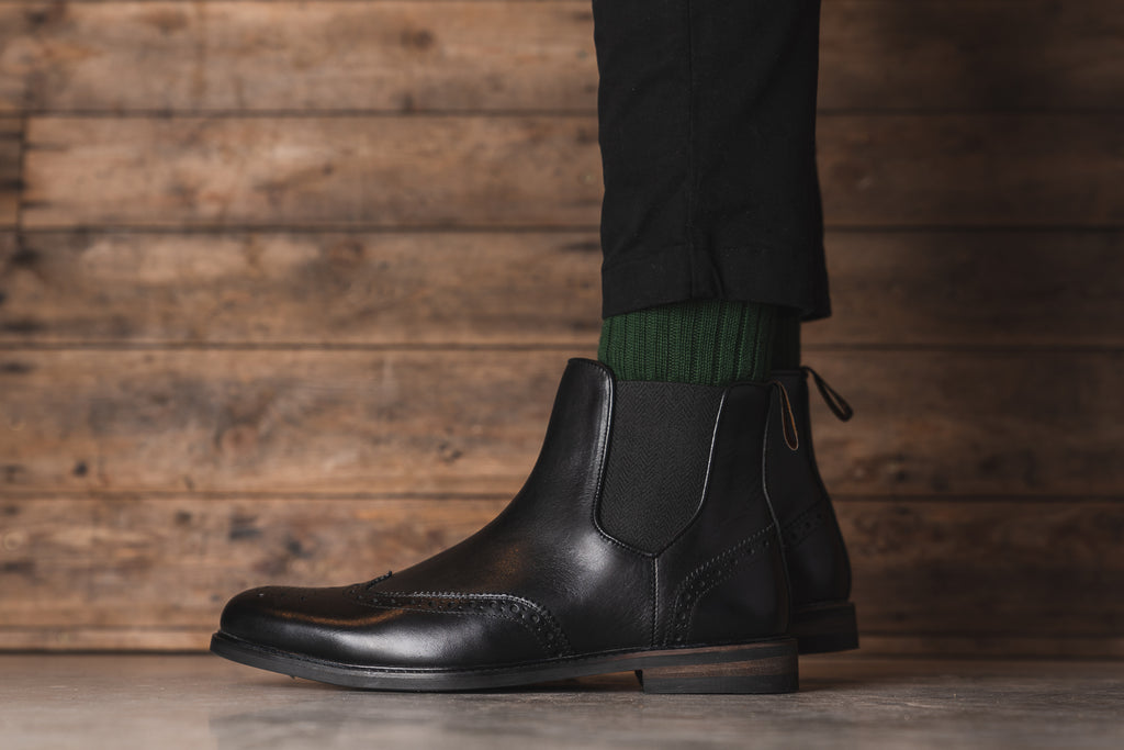 MITTON // BLACK-MEN'S SHOE | LANX Proper Men's Shoes