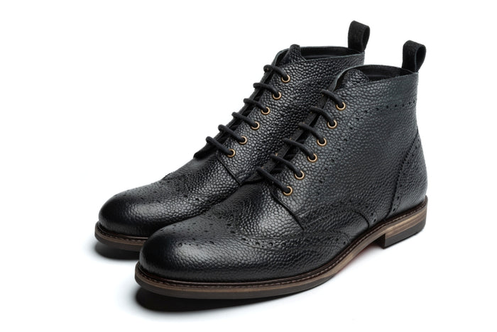 REILLY // BLACK (MEN'S)-MEN'S SHOE | LANX Proper Men's Shoes