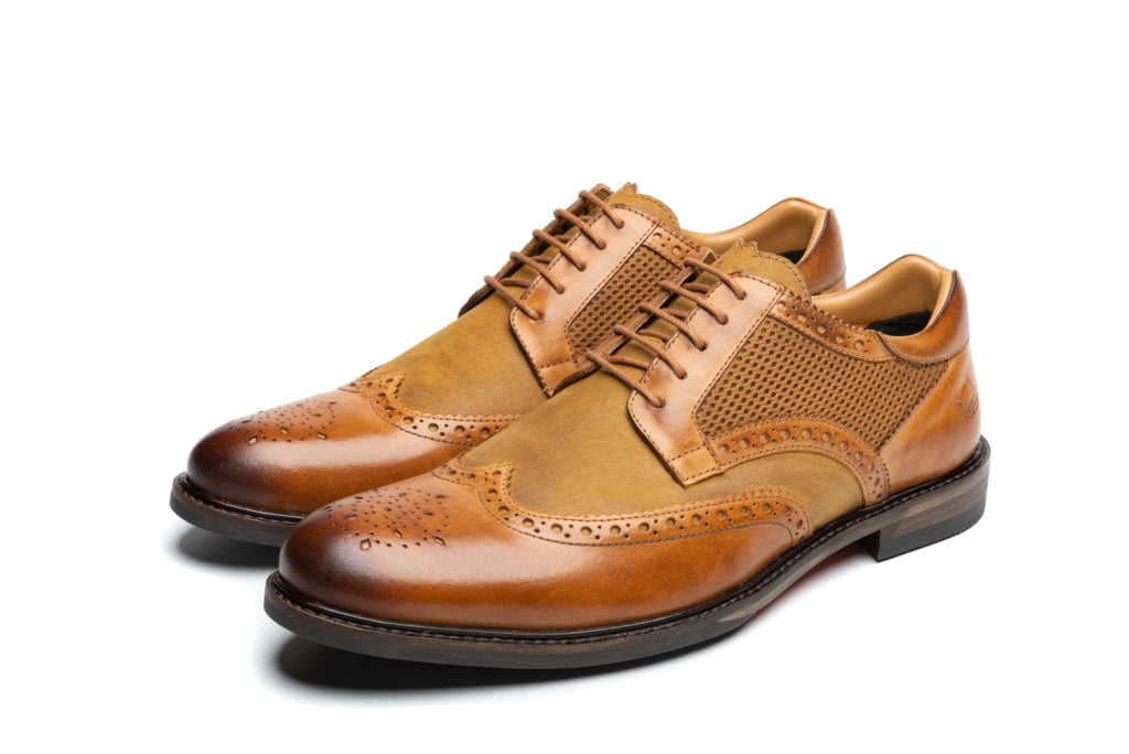 HAYNES // TAN (MEN'S)-MEN'S SHOE | LANX Proper Men's Shoes