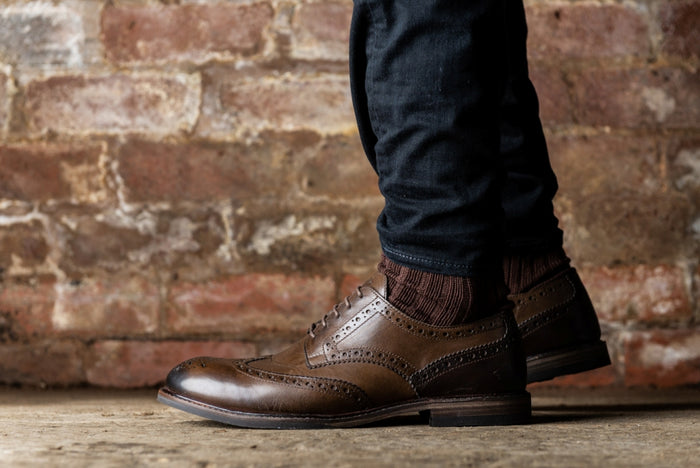 *COPPING // BROWN-MEN'S SHOE | LANX Proper Men's Shoes