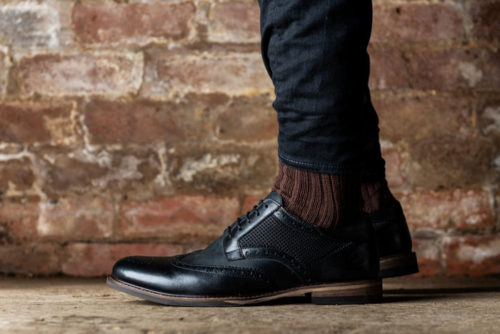 *HAYNES // BLACK-MEN'S SHOE | LANX Proper Men's Shoes