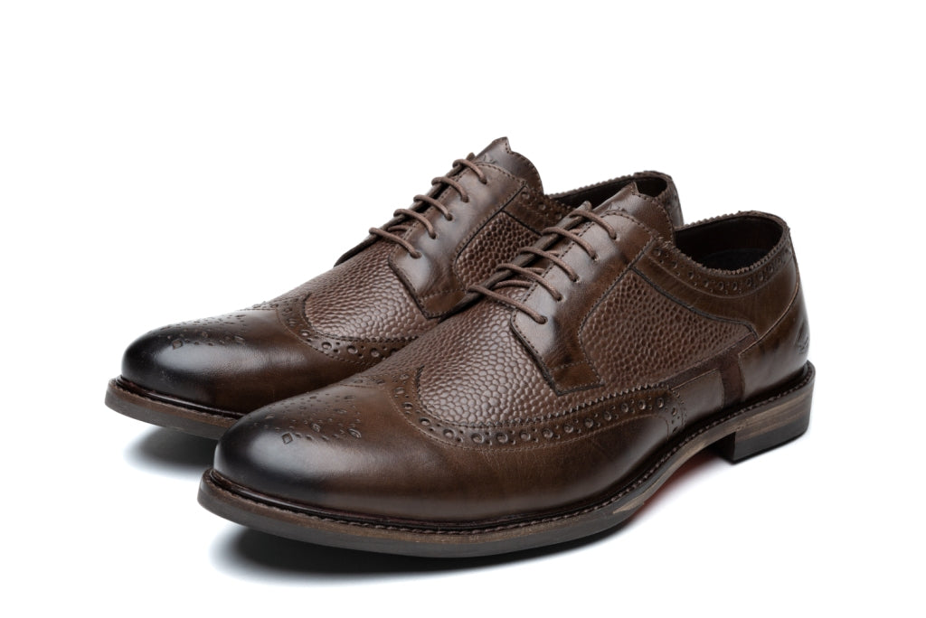 HUNT // BROWN (MEN'S)-MEN'S SHOE | LANX Proper Men's Shoes