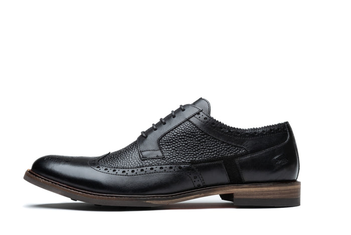 HUNT // BLACK (MEN'S)-MEN'S SHOE | LANX Proper Men's Shoes