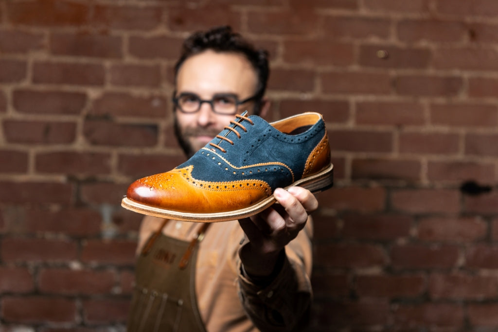 ANSBRO // TAN & NAVY-MEN'S SHOE | LANX Proper Men's Shoes