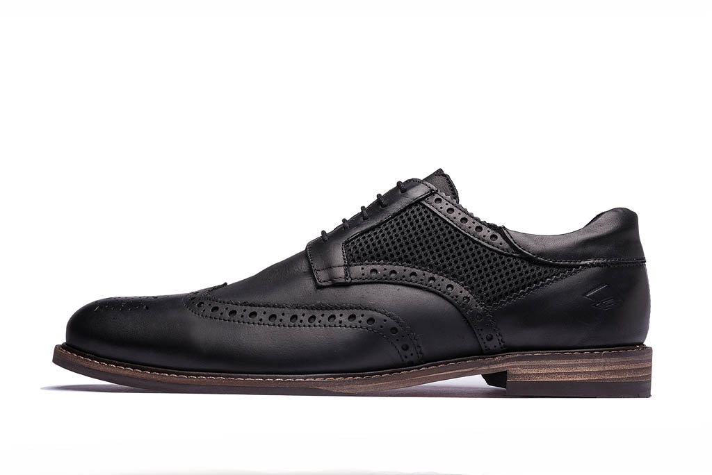 HAYNES // BLACK-MEN'S SHOE | LANX Proper Men's Shoes