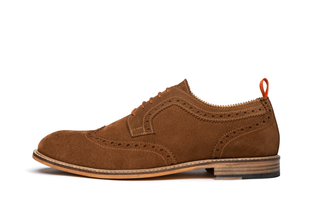ARCHER // MID-BROWN (MEN'S)-MEN'S SHOE | LANX Proper Men's Shoes