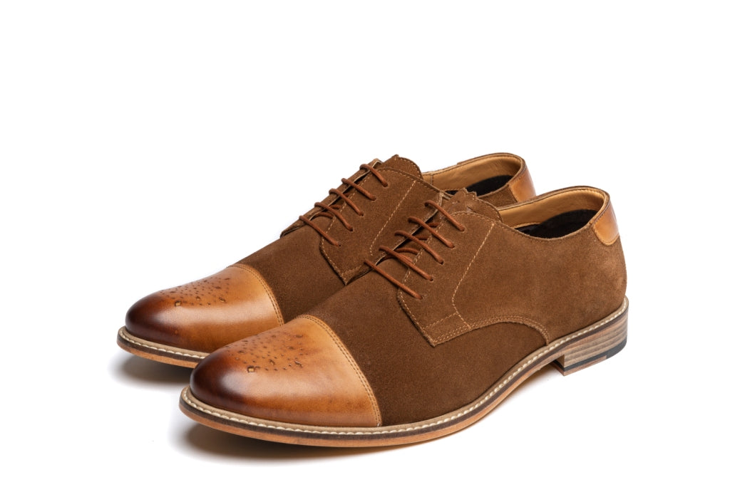 BARON // MID-BROWN (MEN'S)-MEN'S SHOE | LANX Proper Men's Shoes