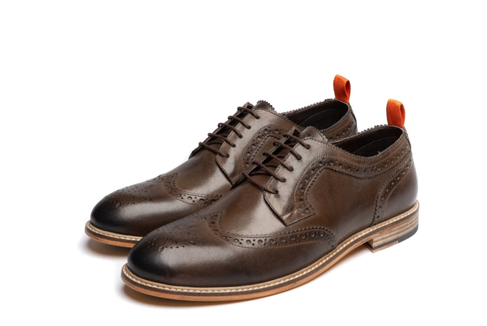 ARCHER // BROWN (MEN'S)-MEN'S SHOE | LANX Proper Men's Shoes