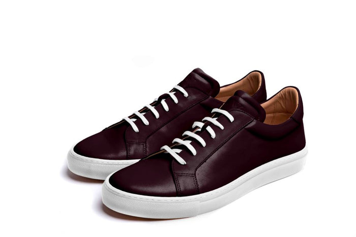 ANCOATS // WINE-MEN'S SNEAKER | LANX Proper Men's Shoes