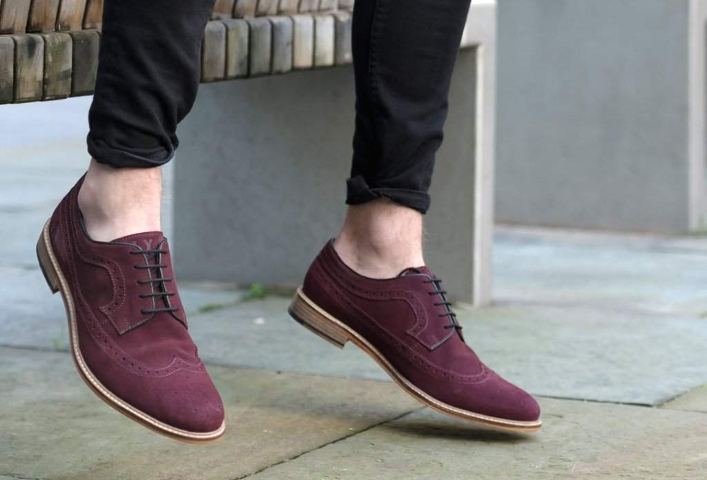 913f44124dab48 Duckworth Burgundy Suede American Brogue