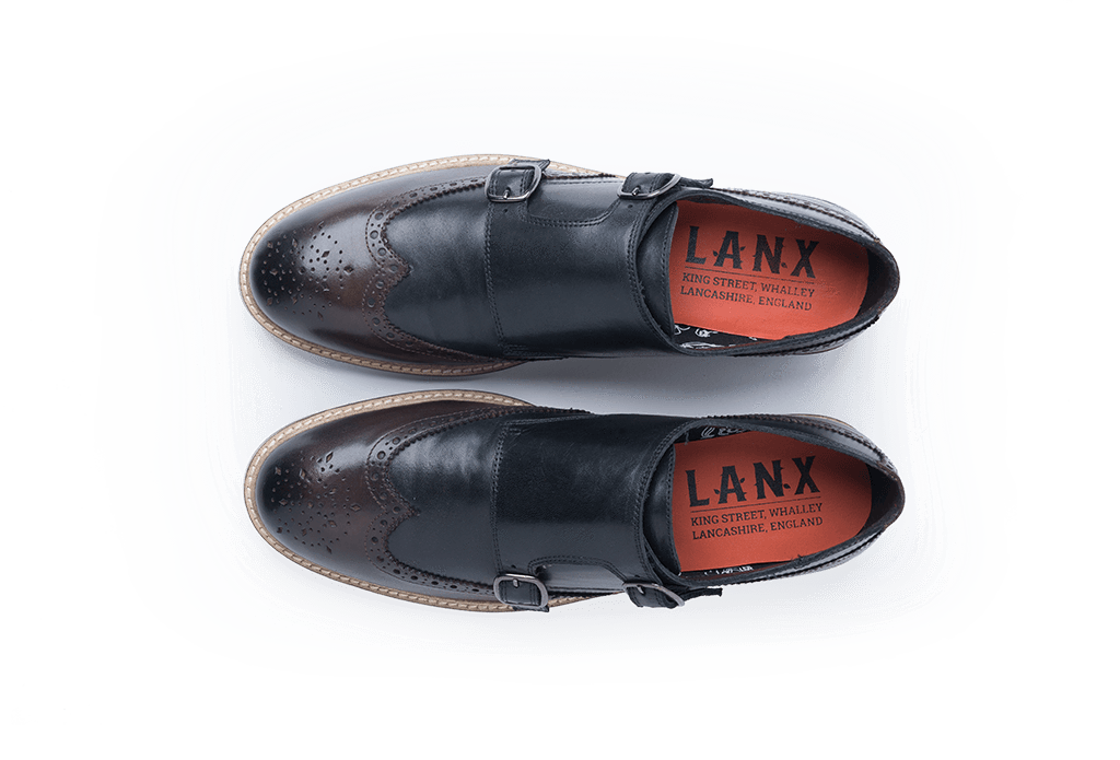 FINNEY // BLACK + BROWN-MEN'S SHOE | LANX Proper Men's Shoes