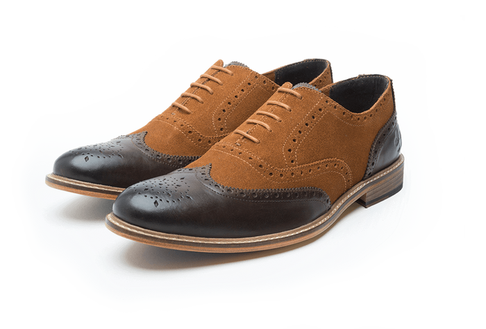 KENYON // BROWN + TAN (MEN'S)-MEN'S SHOE | LANX Proper Men's Shoes