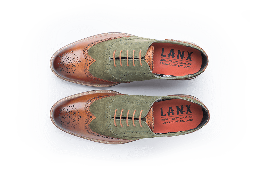 KENYON // TAN + GREEN-MEN'S SHOE | LANX Proper Men's Shoes