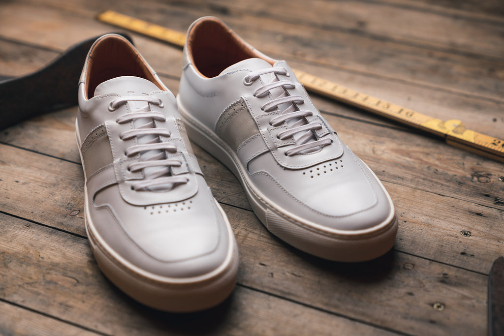 SANKEY // WHITE-MEN'S SNEAKER | LANX Proper Men's Shoes