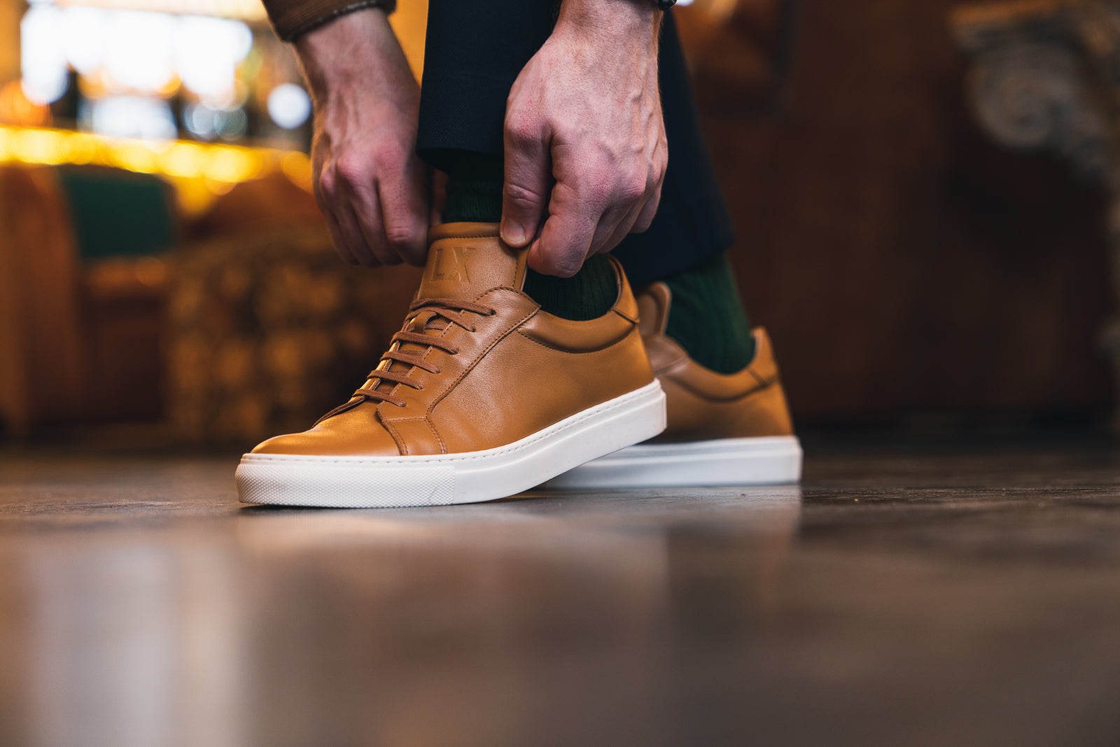 ANCOATS // TAN-MEN'S SNEAKER | LANX Proper Men's Shoes