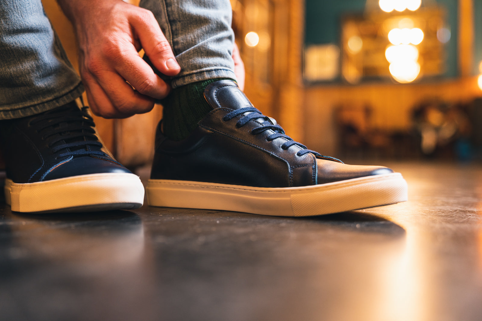 ANCOATS // NAVY-MEN'S SNEAKER | LANX Proper Men's Shoes