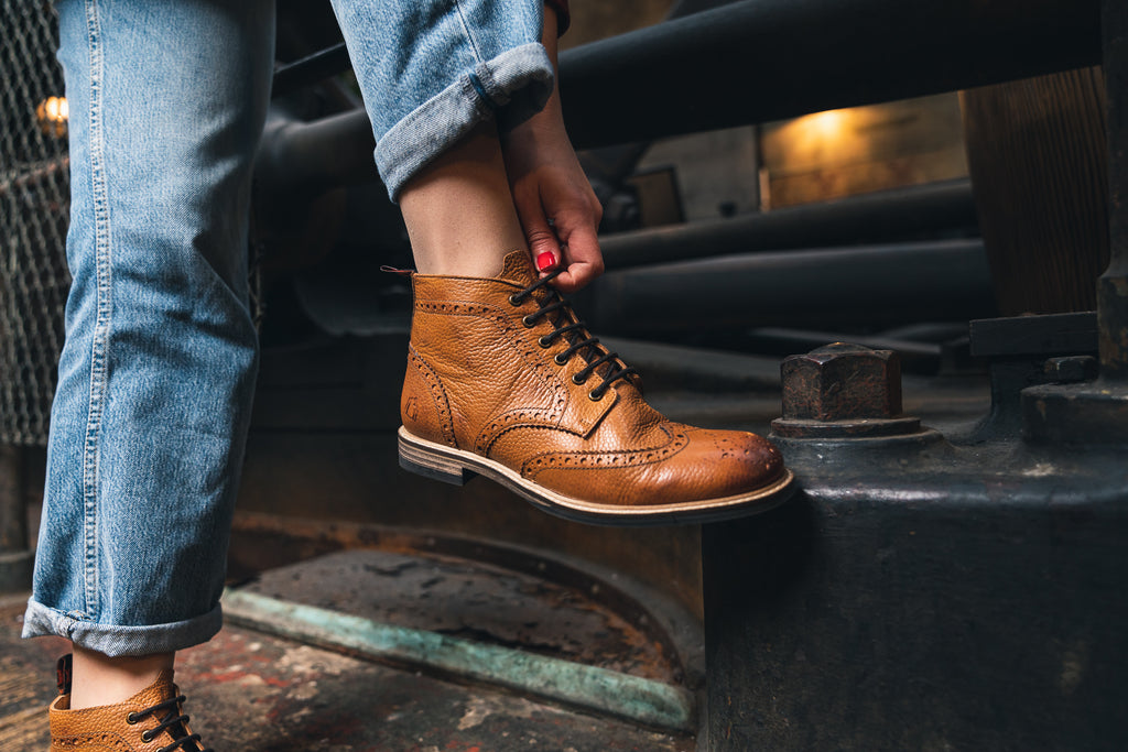 PARK / PEBBLED TAN-Womens Footwear | LANX Proper Men's Shoes