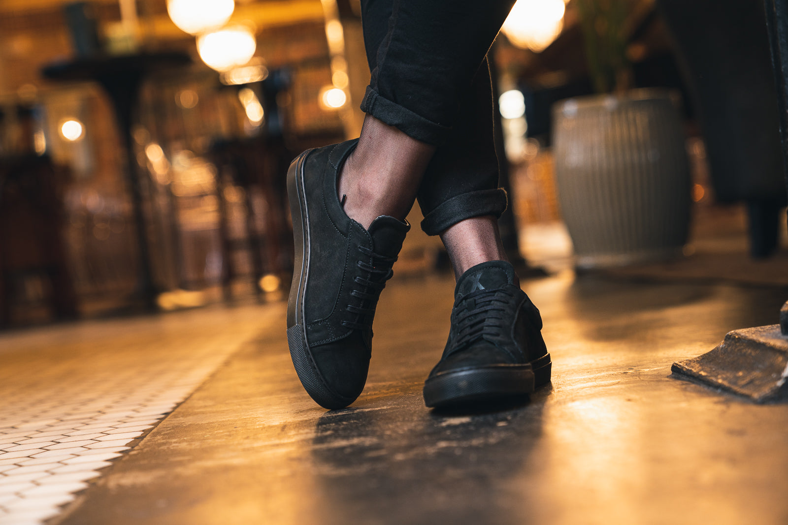 NESS / BLACK NUBUCK-Womens Sneakers | LANX Proper Men's Shoes
