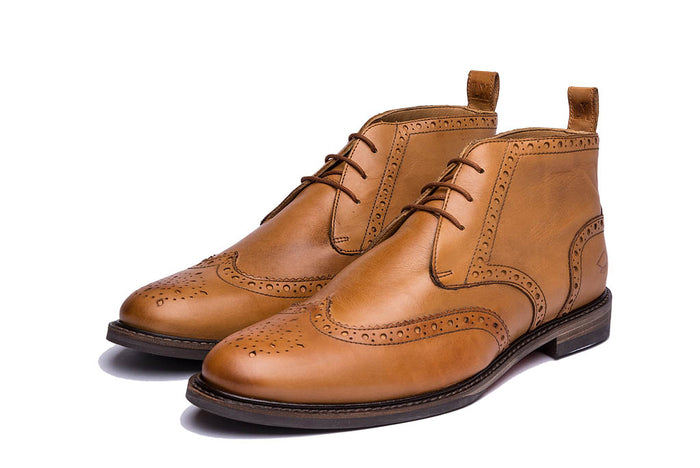 EMERY // TAN (MEN'S)-MEN'S SHOE | LANX Proper Men's Shoes