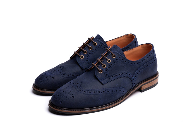 HAYHURST // COSMIC BLUE-MEN'S SHOE | LANX Proper Men's Shoes