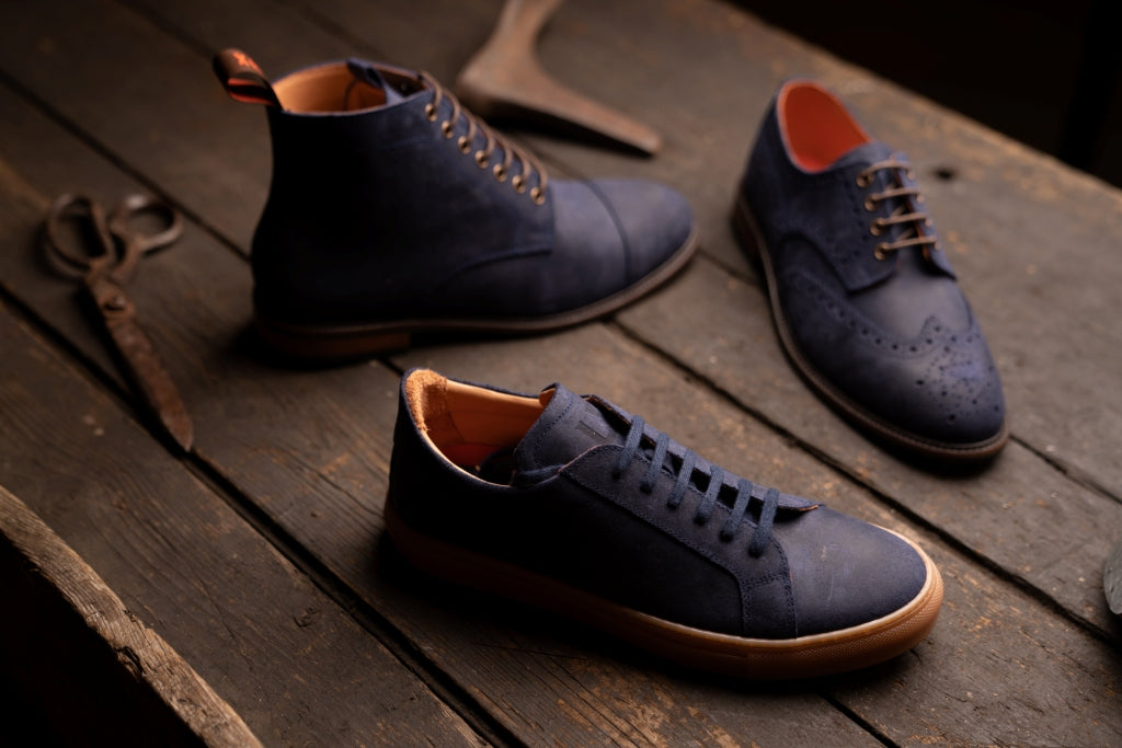 CHARLIE // COSMIC BLUE-MEN'S SNEAKER | LANX Proper Men's Shoes