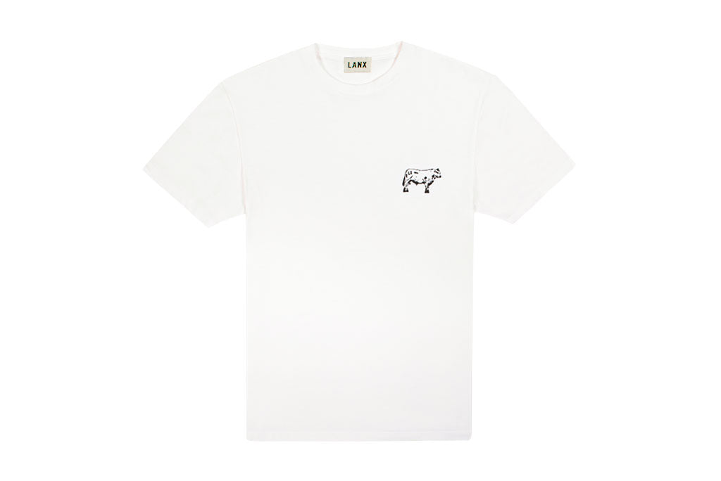 T-SHIRT NO.1 // WHITE-Men's Clothing | LANX Proper Men's Shoes