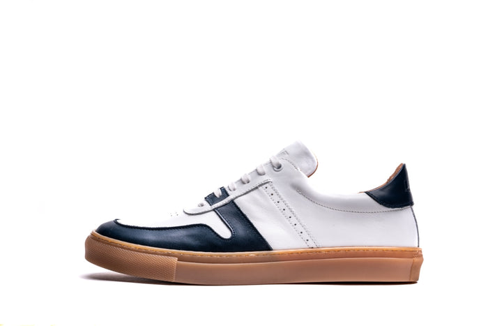 SANKEY // NAVY & WHITE-MEN'S SNEAKER | LANX Proper Men's Shoes