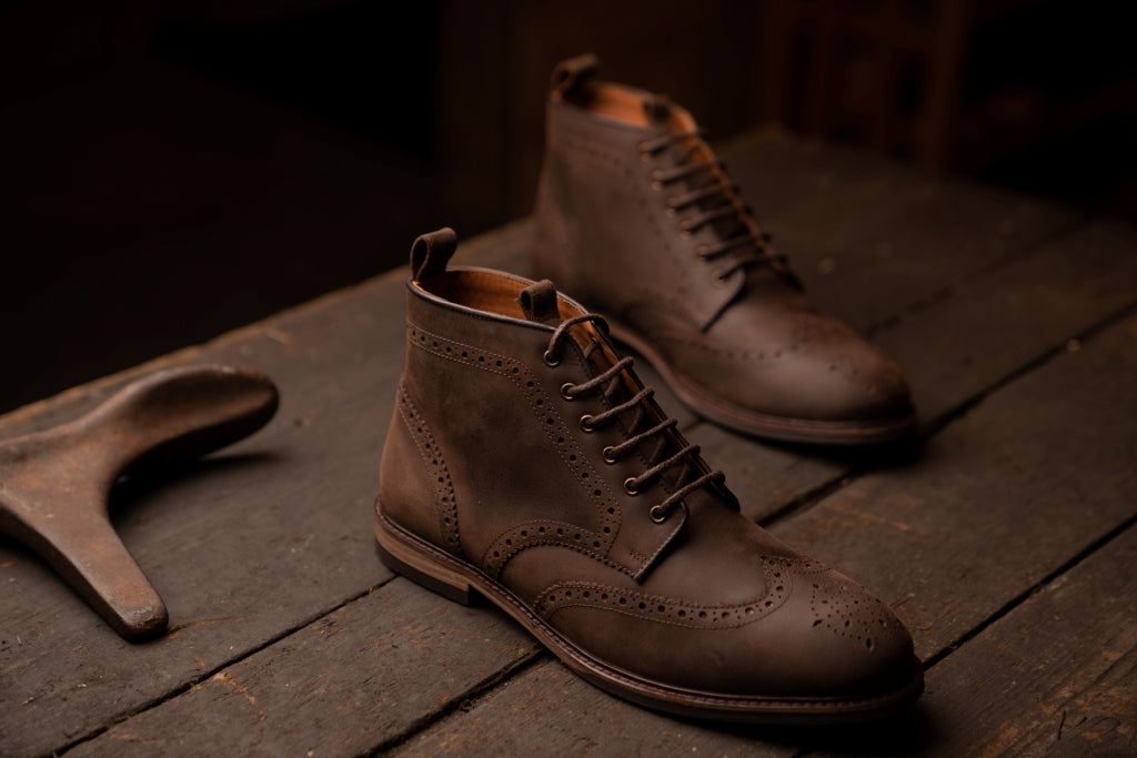 BAYLEY // DISTRESSED BROWN-MEN'S SHOE | LANX Proper Men's Shoes