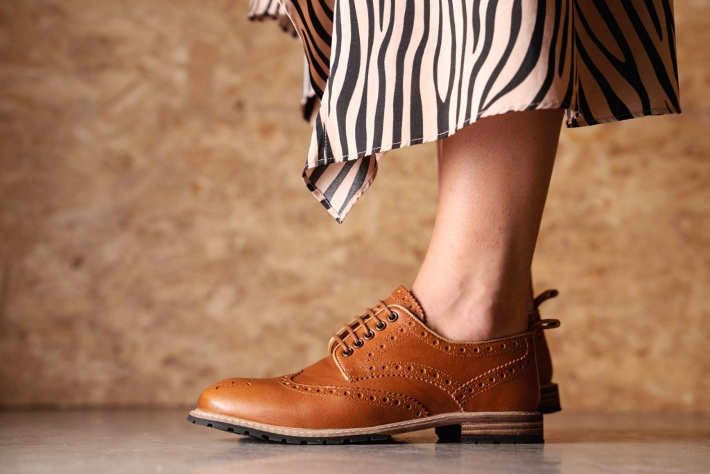 WHITEWELL / UMBER-Womens Footwear | LANX Proper Men's Shoes