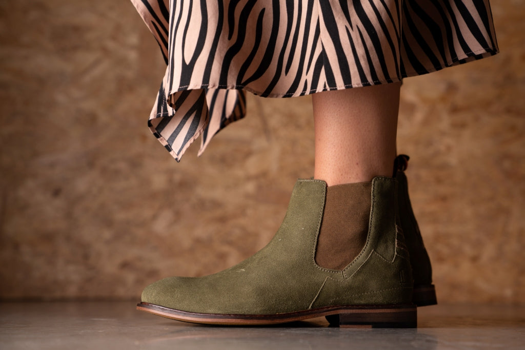 SLINGER / KHAKI GREEN-Womens Footwear | LANX Proper Men's Shoes
