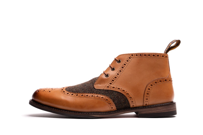 DIBNAH // TAN-MEN'S SHOE | LANX Proper Men's Shoes