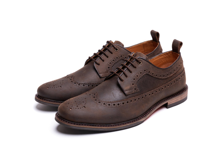 SIMPSON // DISTRESSED BROWN-MEN'S SHOE | LANX Proper Men's Shoes