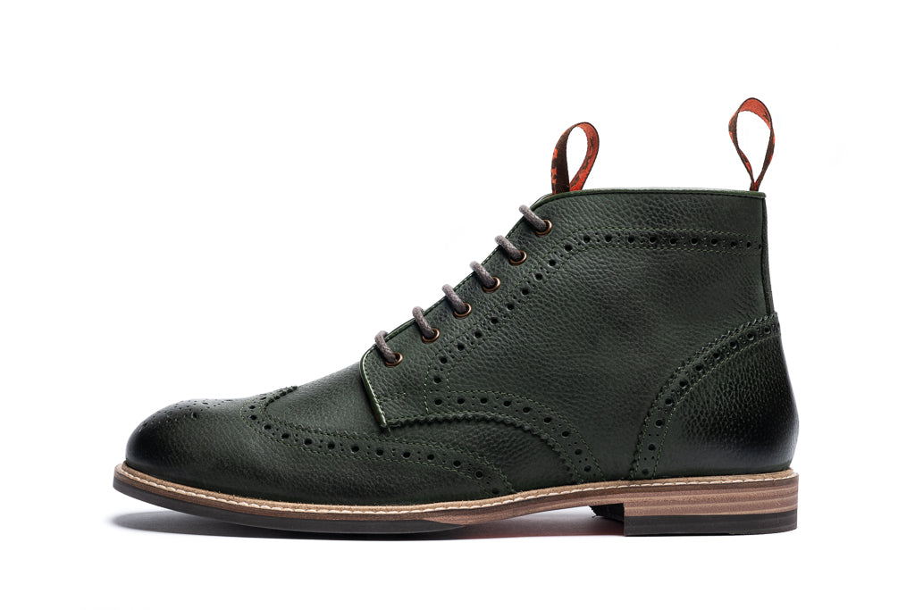 BAYLEY // BOTTLE GREEN-MEN'S SHOE | LANX Proper Men's Shoes