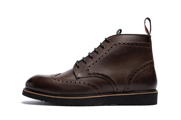 BRIGHSTONE // BROWN-MEN'S SHOE | LANX Proper Men's Shoes
