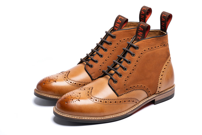 BAYLEY // TAN & TAN-MEN'S SHOE | LANX Proper Men's Shoes