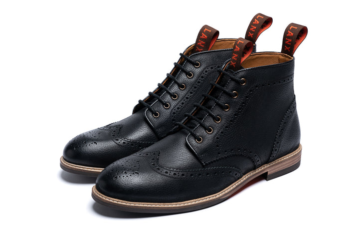 KINGSLEY // BLACK-MEN'S SHOE | LANX Proper Men's Shoes