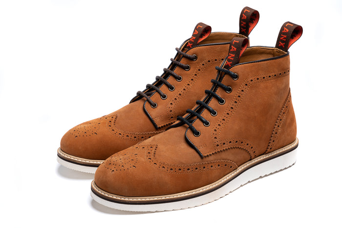 NEWTON // TAN NUBUCK-MEN'S SHOE | LANX Proper Men's Shoes