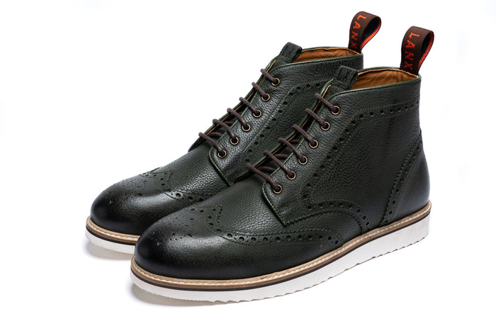 NEWTON // BOTTLE GREEN-MEN'S SHOE | LANX Proper Men's Shoes