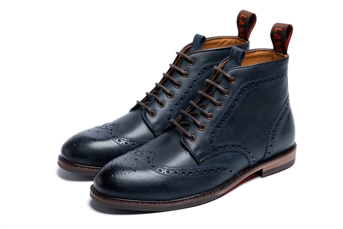 BAYLEY // NAVY-MEN'S SHOE | LANX Proper Men's Shoes