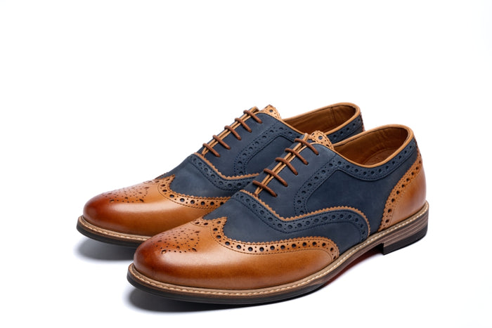SHIREBURN // NAVY & TAN-MEN'S SHOE | LANX Proper Men's Shoes